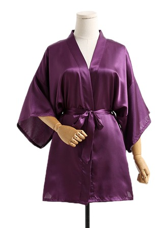 Bride Bridesmaid Silk With Short Kimono Robes