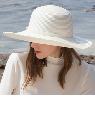 Ladies' Glamourous/Classic/Elegant/Simple/Nice Pp With Rhinestone Beach/Sun Hats
