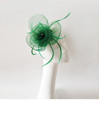 Dames Style Vintage Feather/Fil net avec Feather Chapeaux de type fascinator