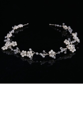Ladies Glamourous Alloy/Imitation Pearls Headbands