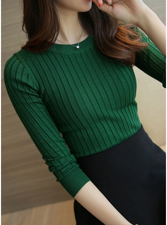 Plain Cotton Round Neck Sweater Sweaters