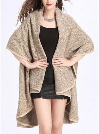 Solid Color Cold weather Acrylic Poncho