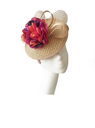 Damer' Elegant Batist med Blomma Fascinators