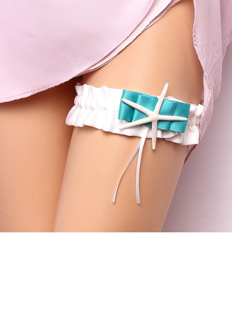 Exclusive Satin With Starfish Wedding Garter Skirt