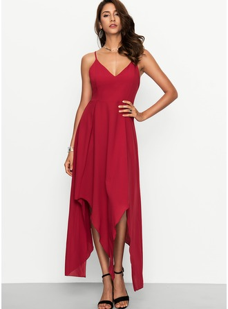 Polyester/Cotton Blends With Stitching Maxi Dress
