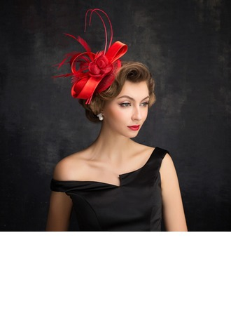 Ladies ' Elegant Fjer/Tyl/Linned med Fjer Fascinators
