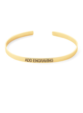 Christmas Gifts For Her - Custom 18k Gold Plated Sterling Silver Statement Bangles & Cuffs
