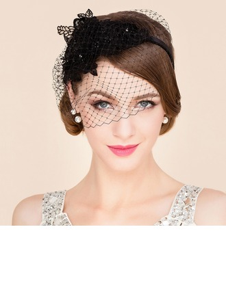 Ladies ' Smukke Netto garn Fascinators