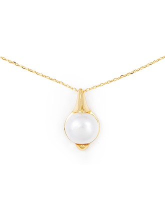 Silver Pearl/Beaded Pearl Necklace For Women For Mother/Mom