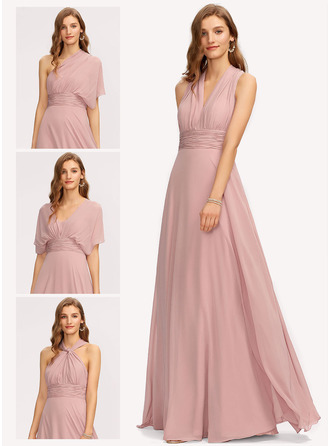 V-hals One-Shoulder Halter neck Ærmeløs Maxi Mode kjoler