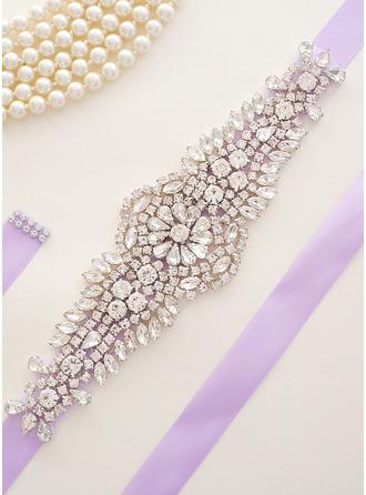 Único Satén Fajas con Diamantes de imitación