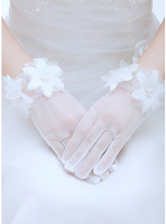 Voile Wrist Length Bridal Gloves