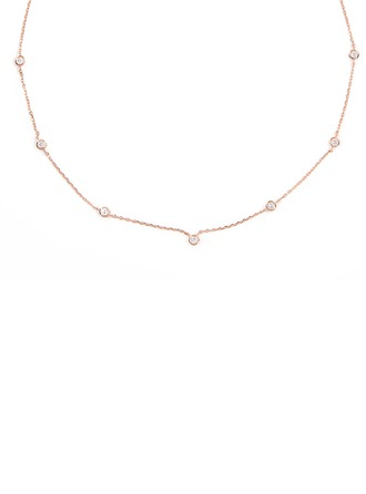 Silver Cubic Zirconia Circle Charm Necklace For Women For Girlfriend
