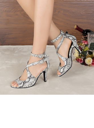 Women's Leatherette Heels Sandals Pumps Latin Modern Party Dance Shoes
