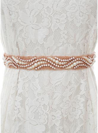 Exquisito Satén Fajas con Diamantes de imitación/La perla de faux