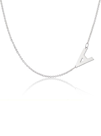 Custom Sterling Silver Letter Name Necklace