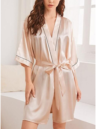 Non-personalized Polyester Bride Bridesmaid Blank Robes