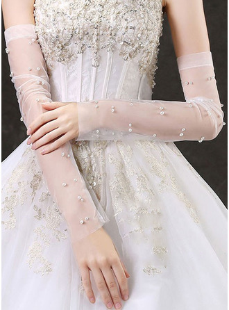 Lace Bridal Gloves With Embroidery