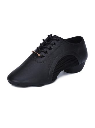 Women's Real Leather Sneakers Practice Dance Shoes