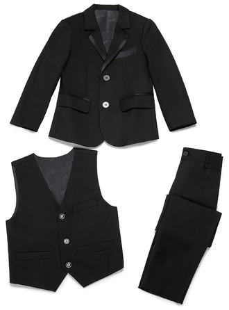 Boys 3 Pieces Elegant Ring Bearer Suits With Jacket Vest Pants