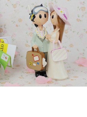 Non-personalized Bride Groom Resin Creative Gifts