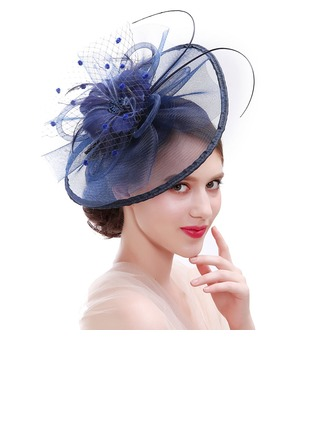 Ladies' Fashion/Special/Classic/Elegant/Unique/Simple Net Yarn With Feather Fascinators