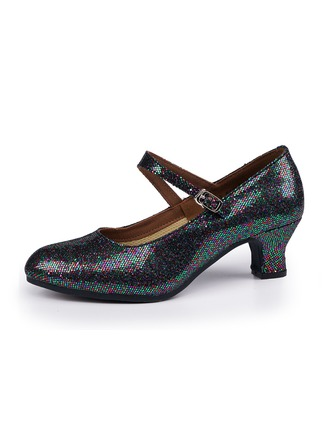 Women's Sparkling Glitter Heels Character Shoes Dance Shoes