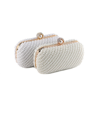 Cute Alloy With Imitation Pearl Evening Bags