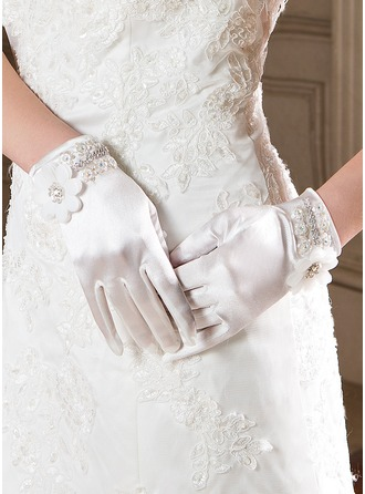 Elastic Satin Wrist Length Party/Fashion Gloves