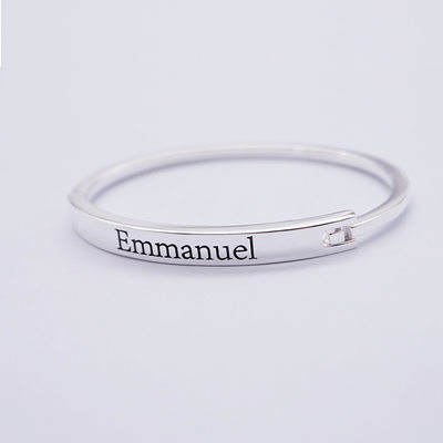 Personalized Unisex Chic 925 Sterling Silver With Round Engraved Bracelets Bracelets For Bride/For Bridesmaid/For Friends