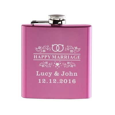 Bride Gifts - Personalized Vintage Stainless Steel Flask (Sold in a single piece)