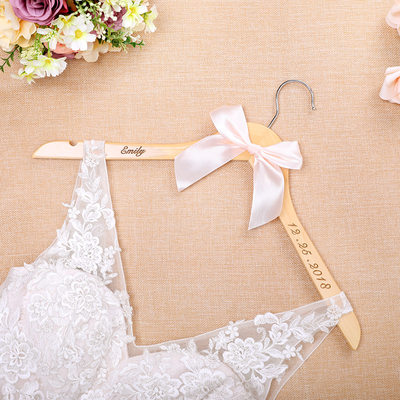 Bridesmaid Gifts - Personalized Elegant Fashion Wooden Hanger