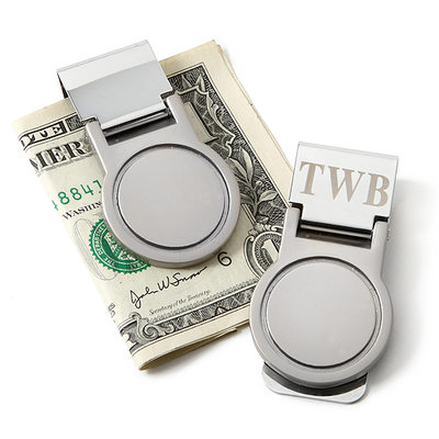 Groomsmen Gifts - Personalized Modern Stainless Steel Money Clip