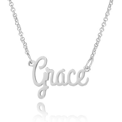 Custom Sterling Silver Name Necklace - Valentines Gifts