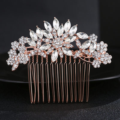 Ladies Beautiful Alloy Combs & Barrettes With Rhinestone/Crystal