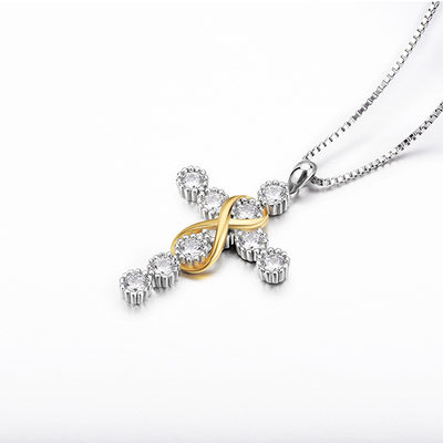 Ladies' Elegant Rhinestones/925 Sterling Silver Necklaces For Bride/For Bridesmaid/For Couple