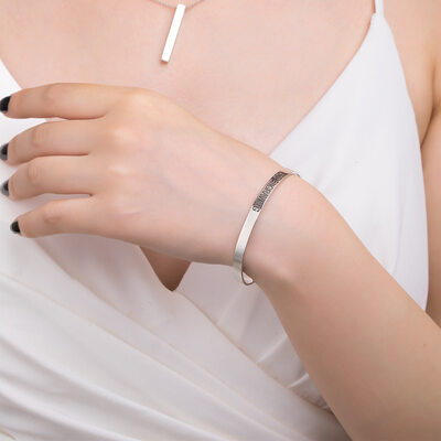 Custom Platinum Plated Statement Bangles & Cuffs - Valentines Gifts For Her