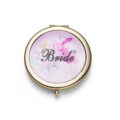 Bride Gifts - Elegant Stainless Steel Compact Mirror