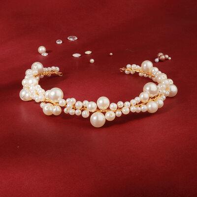 Damen Schöne Faux-Perlen Stirnbänder mit Venezianischen Perle (In Einem Stück Verkauft)