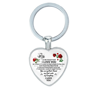 Groomsmen Gifts - Romantic Alloy Keychain
