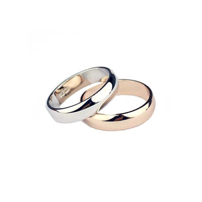 Classic Alloy Couples' Rings