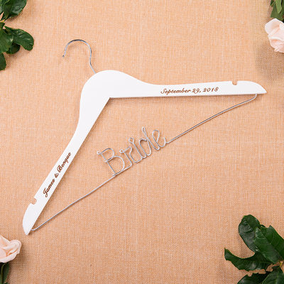 Bride Gifts - Personalized Wooden Hanger