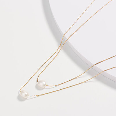 Vintage Alloy Pearl Necklaces For Bride/For Bridesmaid