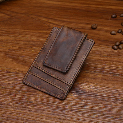 Groomsmen Gifts - Vintage Leather Money Clip