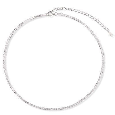 Sterling Silver Choker Necklace - Valentines Gifts