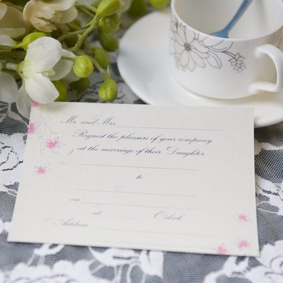 Style Florale Carte plate Invitation Cards (Lot de 50)