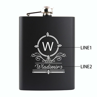 Groomsmen Gifts - Personalized Vintage Stainless Steel Flask