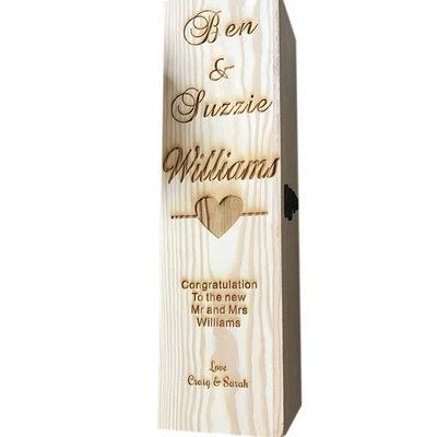Groom Gifts - Personalized Classic Wooden Wine Box