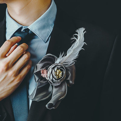 Groom Gifts - Elegant Satin Boutonniere