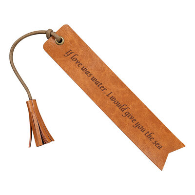 Groom Gifts - Personalized Vintage Custom Engraved Leather Bookmark